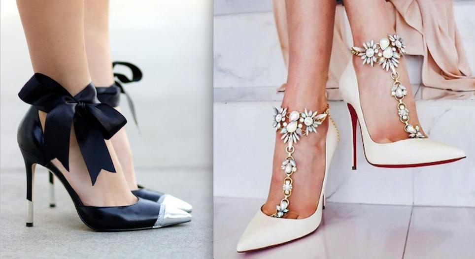 317762b8128 Como convertir unos zapatos corrientes en unos preciosos zapatos de fiesta